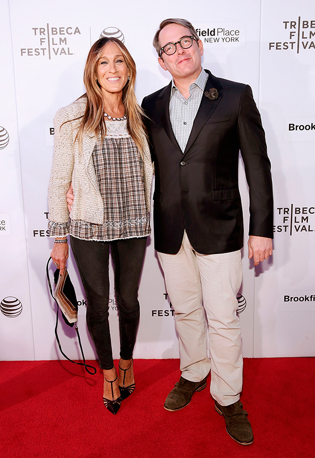 Sarah Jessica Parker and Mathew Broderick attend 'Dirty Weekend' during 2015 Tribeca Film Festival at Regal Battery Park 11 on April 19, 2015 in New York City.