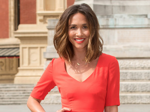 Myleene Klass sizzles in red while modelling her own design