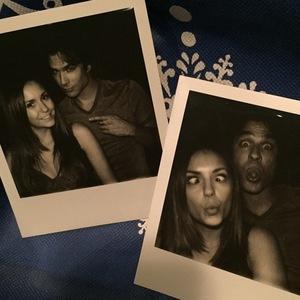 Nina Dobrev last day on The Vampire Diaries with Ian Somerhalder, Instagram 25 April