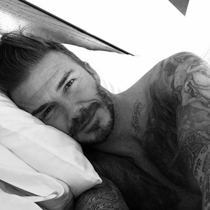 David Beckham joins Instagram with sexy selfie on his 40th birthday, 2 May 2015