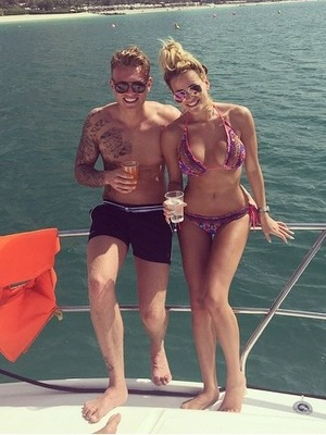 Georgia Kousoulou shares snap of her and boyfriend Tommy Mallet on holiday 28th April 2015