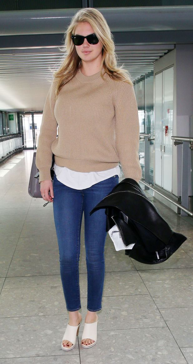 Kate Upton at Heathrow airport 28 april