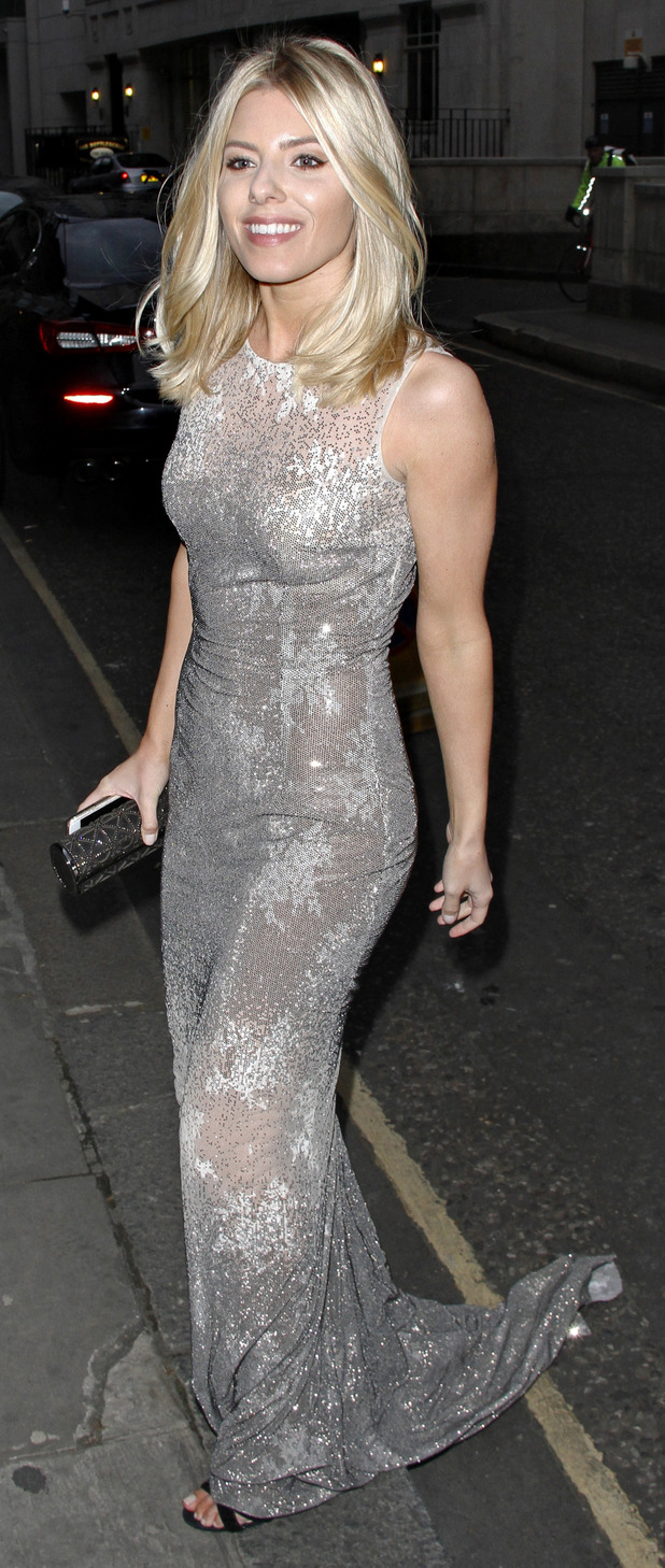 Mollie King arrives outside LDNY fashion show and WIE Award Gala held at Goldsmiths Hall 27th April 2015