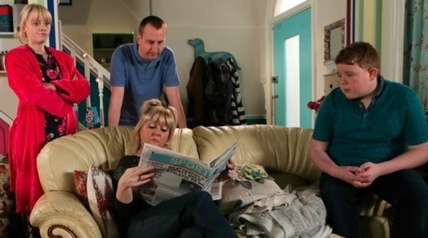 Coronation Street scene with the Tinkers and Dobbs - 2015.
