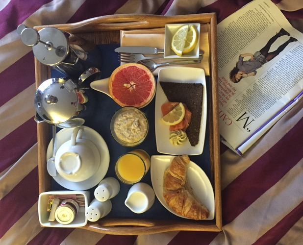 BREAKFAST IN BED AT RAGDALE HALL