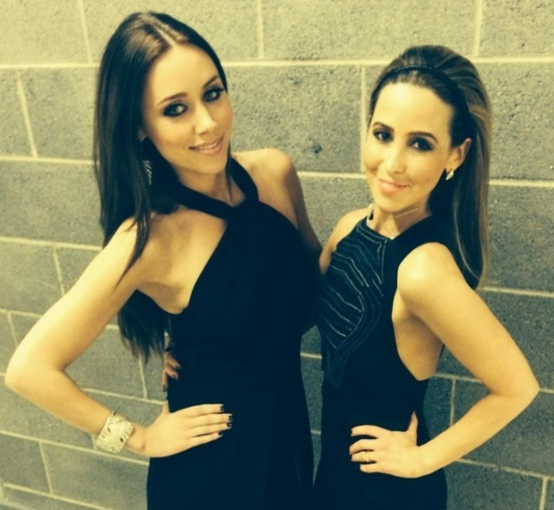 Una Foden and Rachel Stevens backstage, The Voice of Ireland 26 April