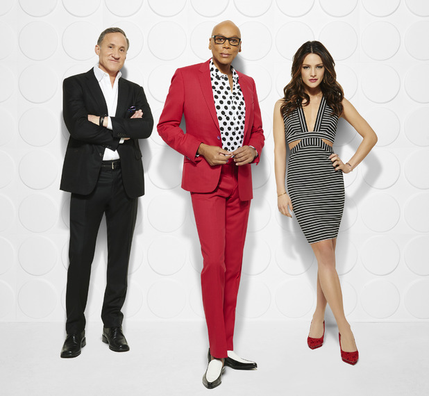 E!'s new show Good Work led by RuPaul, renowned plastic surgeon Dr. Terry Dubrow (of E!'s Botched) and beauty expert Sandra Vergara - May 2015.