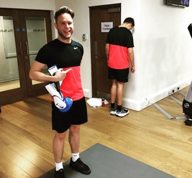 Olly Murs at the gym, Instagram 29 April