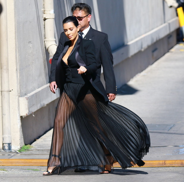 Kim Kardashian arriving for 'Jimmy Kimmel Live!' - 30 April.