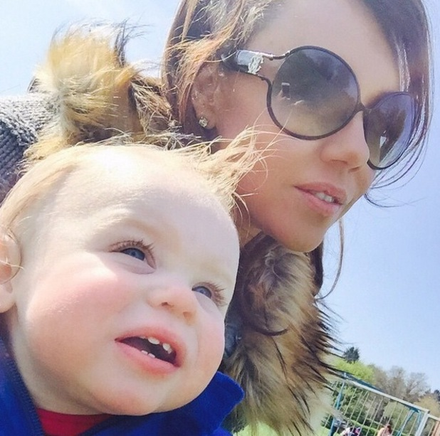 Michelle Heaton shares a snap of herself and son AJ on Instagram, 20th April 2015