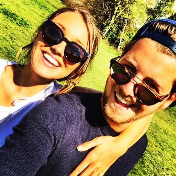Stevie Johnson and girlfriend Cressida Stewart, Instagram 27 April