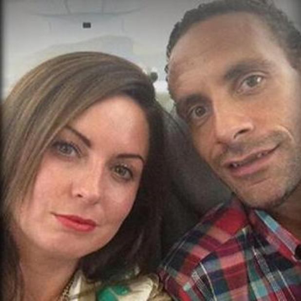 Rio Ferdinand shares picture of wife Rebecca to announce her death to QPR fans, 1 May 2015