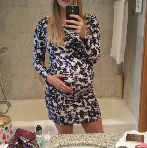 Pregnant Rebecca Adlington shares bump selfie ahead of BT Sports Industry Awards at Battersea Evolution in London - 30 April.
