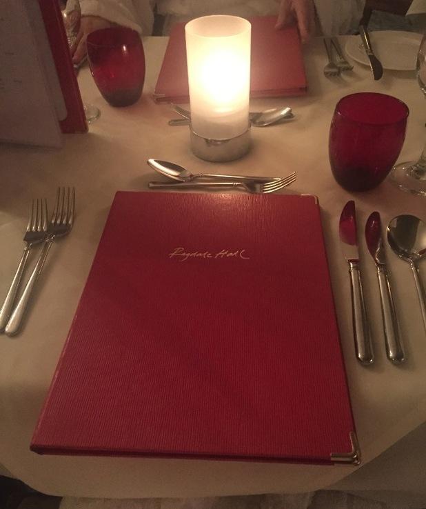 the menu at ragdale hall