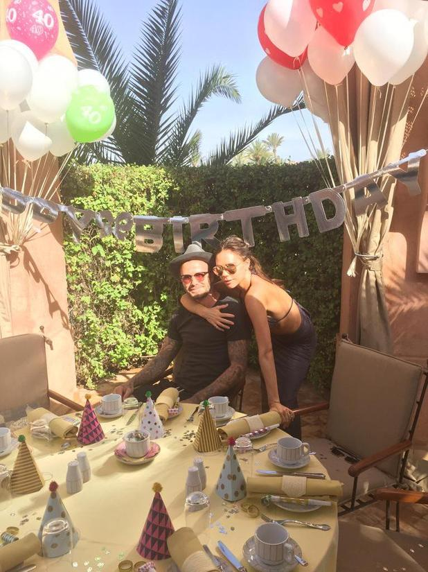 Victoria Beckham shares picture of husband David's birthday, 2 May 2015