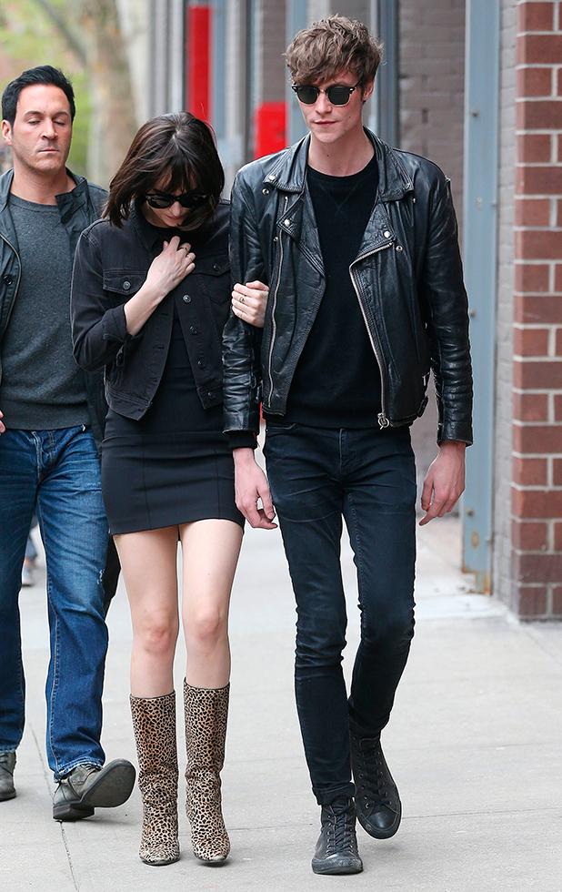 Fifty Shades' Dakota Johnson brings boyfriend Matthew Hitt ...