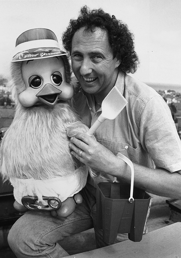 British ventriloquist Keith Harris with his puppet, Orville.