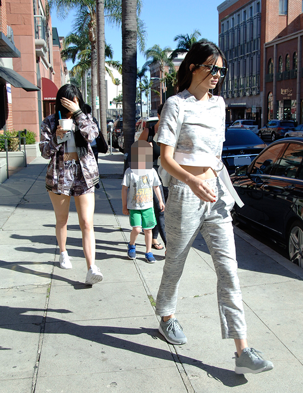 Kendall Jenner and Kylie Jenner go for a quick yogurt run in Beverly Hills, 28 April 2015