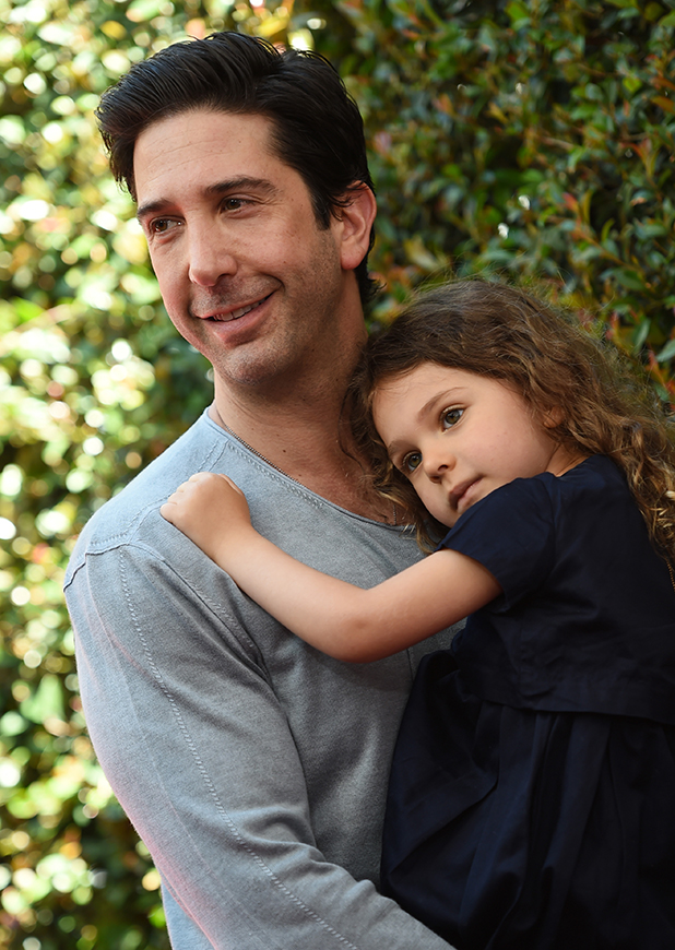 David Schwimmer and his daughter Cleo Buckman Schwimmer arrive at the 12th Annual John Varvatos Stuart House Benefit at John Varvatos on April 26, 2015 in Los Angeles, California.