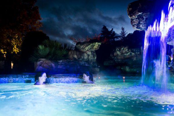 Ragdale Hall waterfall pool