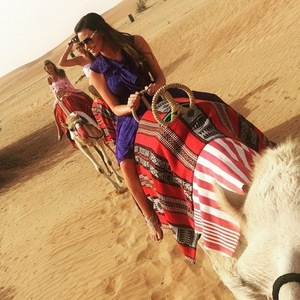 Jess Wright in Dubai for Michelle Keegan hen do, Instgram 6 May