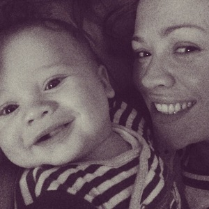 Kimberley Walsh and son Bobby, Instagram 2 May