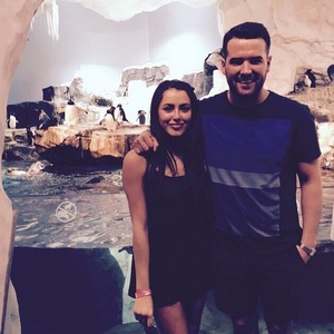 Marnie Simpson and Ricky Rayment at Sea World, Orlando 2 May