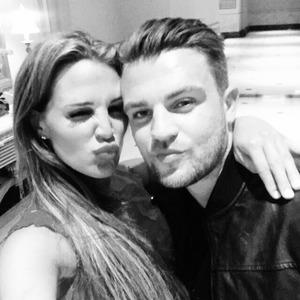 Danielle Lloyd and new boyfriend Tom Jimson, 27 April 2015