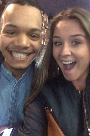 Brooke Vincent with Harley from Rizzle Kicks - 6 May 2015.