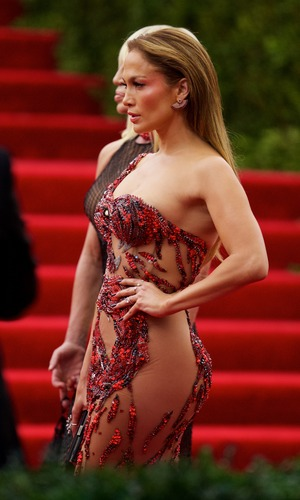Jennifer Lopez at the Met Gala in New York - 4 May 2015.
