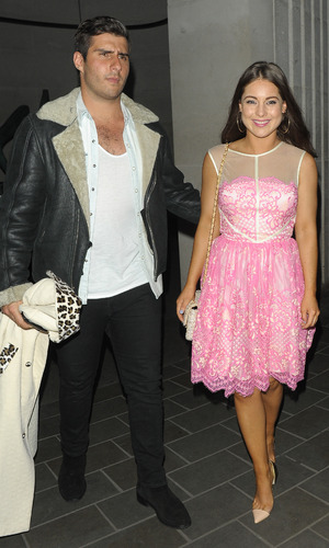 Made In Chelsea's Louise Thompson and Alik Alfus leaving the ME hotel, and heading to Sketch club - 7 May 2015.
