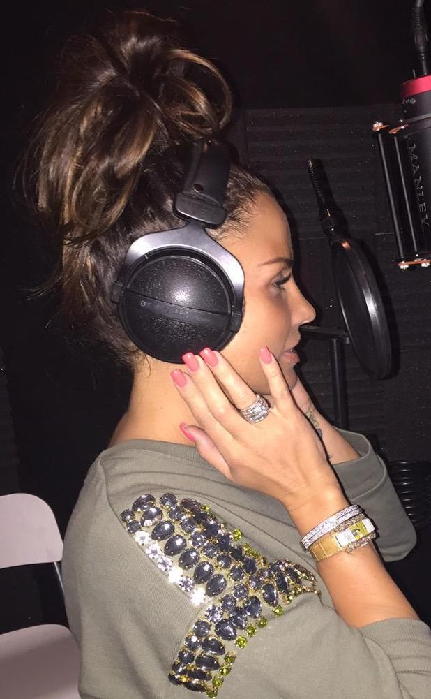 Katie Price teases fans with studio picture, 8 May 2015