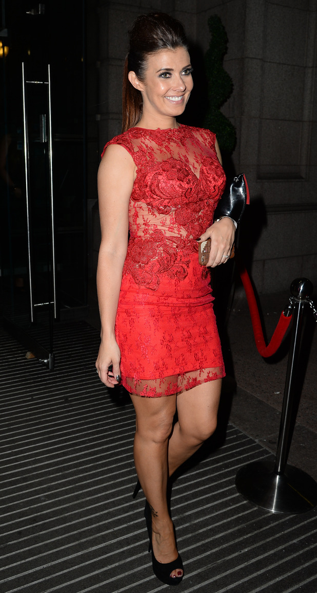Kym Marsh leaves the Palace Hotel Manchester after the Miss Manchester Finals - 05/07/2015 - Manchester, United Kingdom.