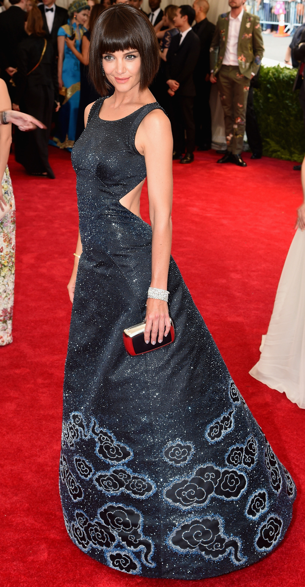Katie Holmes at the met gala in new york 4th may