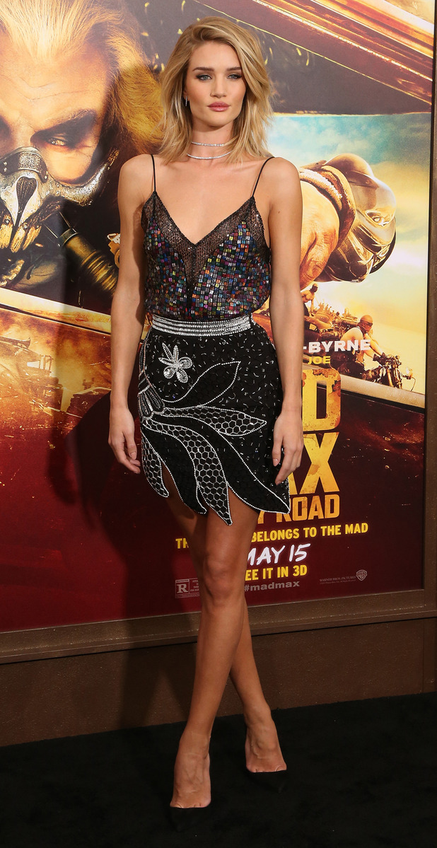 Rosie Huntingdon-Whiteley at the Mad Max Premiere in Hollywood on 7th May