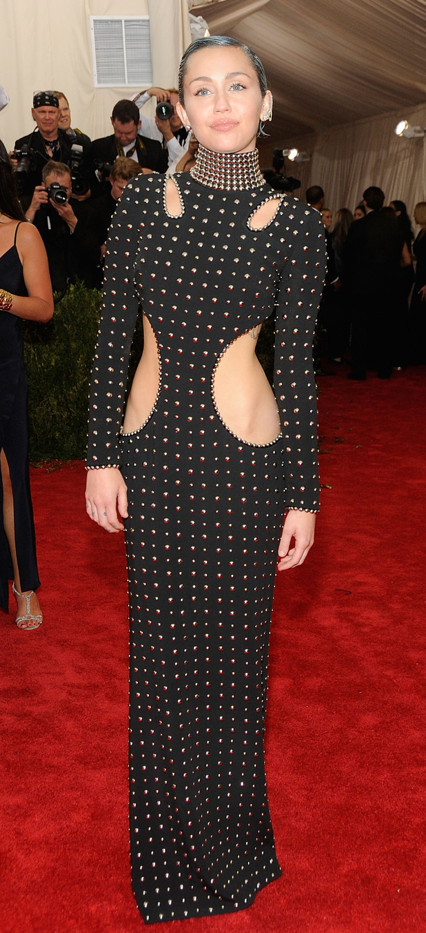 Miley Cyris at the met ball in New York 4th May