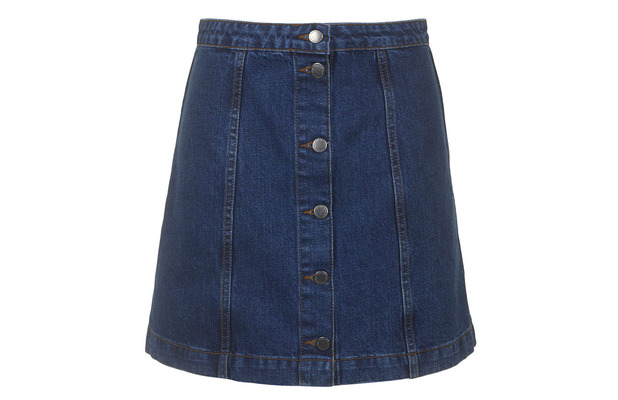 Button Up Denim Skirt Topshop £28 8th May 2015