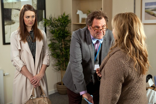 Hollyoaks, Sienna, Dr S'Avage and Mariam, Mon 11 May