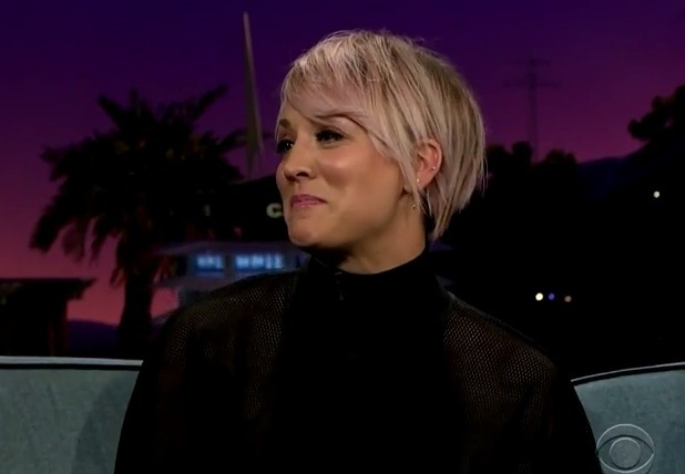 Kaley Cuoco on The Late Late Show with James Corden 7 May