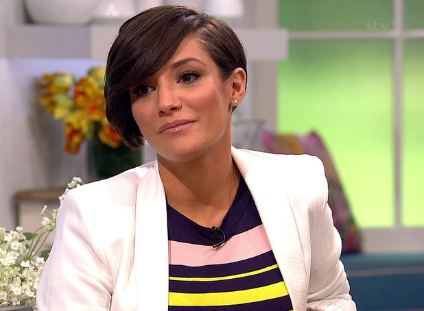 Pregnant Frankie Bridge appears on 'Lorraine' to help launch this year's eagerly anticipated High Street Fashion Awards - 5 May 2015.