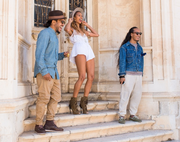 Alesha Dixon looks sensational while filming 'The Way We Are' in Paphos - 5 May 2015.