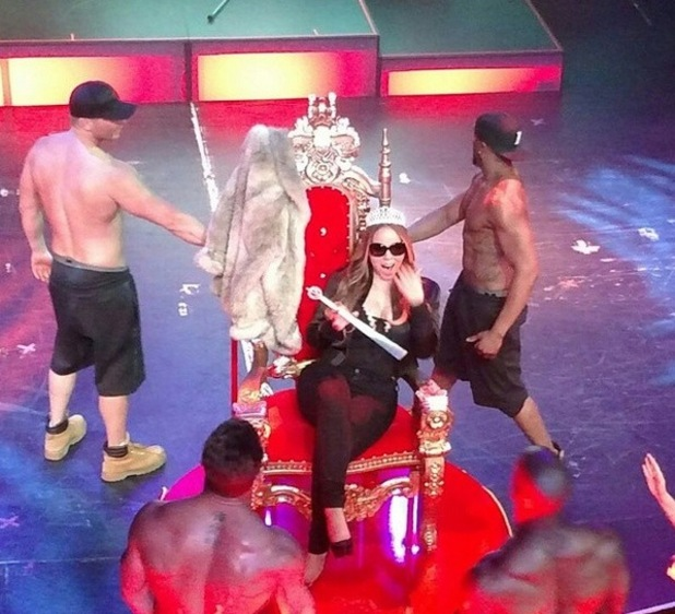 Mariah Carey attends Chippendales show in Las Vegas to support - 7 May.