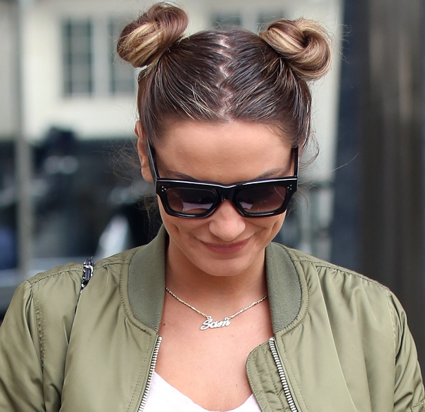 TOWIE'S Sam Faiers in London on her way to Radio1 interview with Scott Mills 8th May 2015