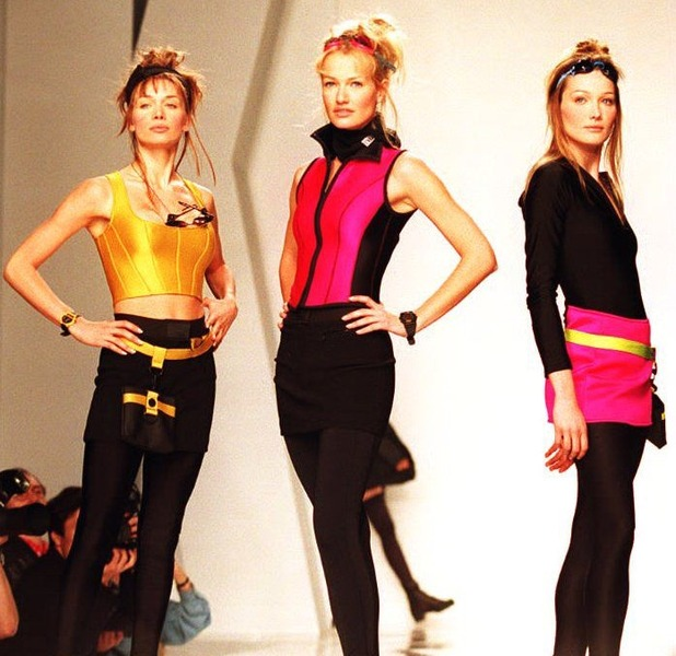 Skirts over Trousers Models on the catwalk 8th May 2015