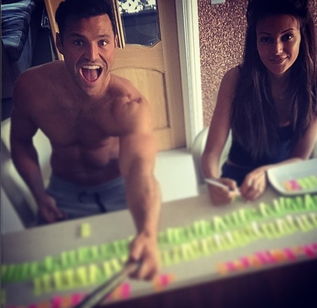 Mark Wright shares wedding planning snap with Michelle Keegan, 3rd May 2015