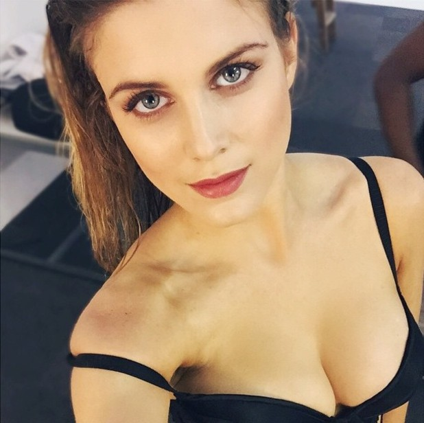 Ashley James shares images from a bikini shoot on Instagram, 7th May 2015