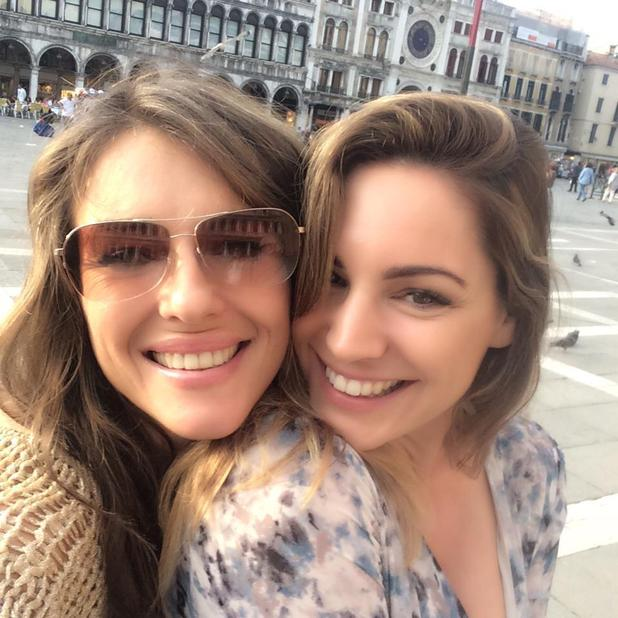 Liz Hurley and Kelly Brook look stunning in Venice, 8 May 2015