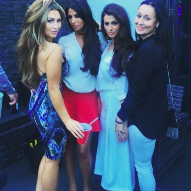 Lauren Goodger and Cara Kilbey attends Billi Mucklow's baby shower, 3 May 2015