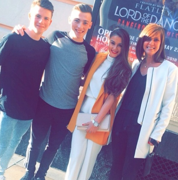Brooke Vincent shares family picture on Instagram wearing Zara waistcoat £69.99