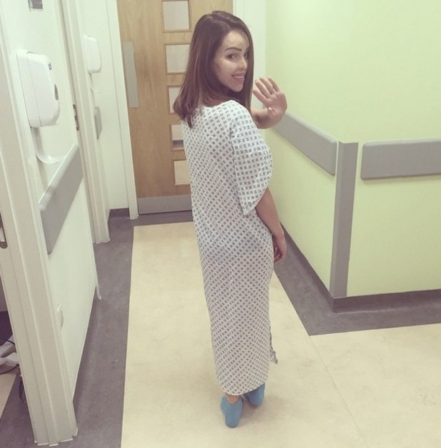 Katie Piper updates fans as she undergoes further throat surgery in hospital - 6 May 2015.
